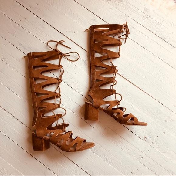 d236972f8c4 Steve Madden suede block heel gladiator sandals 8M.  M 5b5351eb800dee7b89076fcf